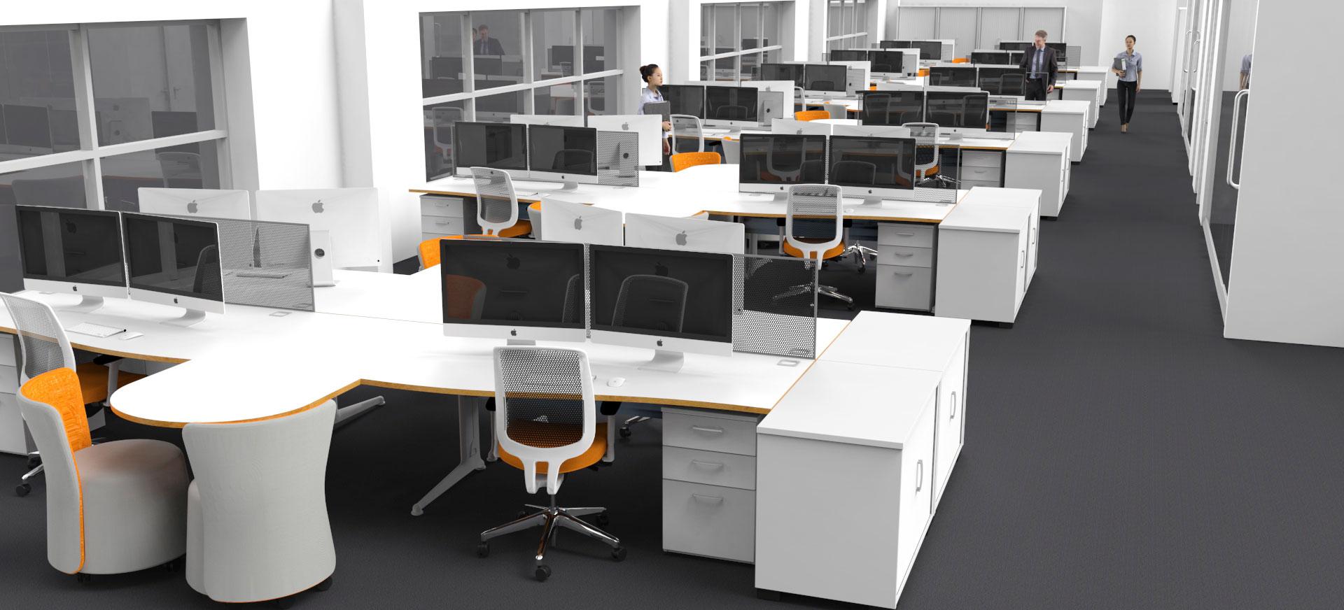 3d office design. 3d Office Concept Design